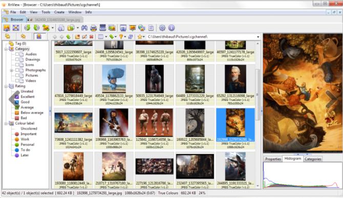 XnView图片浏览器